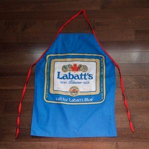 Vintage Labatt's Blue Beer BBQ Grilling Apron